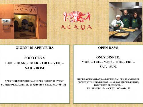 """Trattoria """"Acaya"""" in finale alla Prova del Cuoco sabato alle ore 12"""