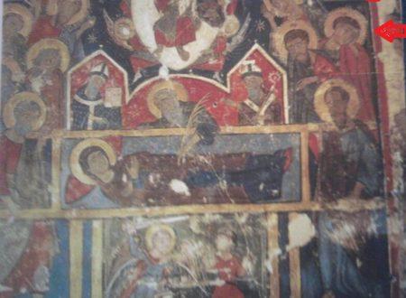 """Il raro dipinto bizantino della """"Dormitio Virginis"""" nel castello di Acaya"""